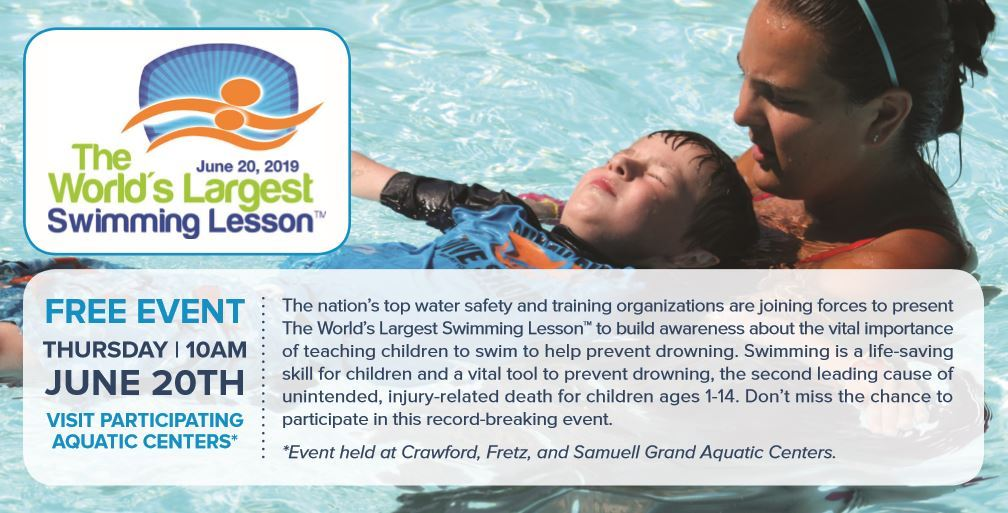 World's Largest Swim Lesson Flyer