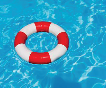 ring-buoy in pool