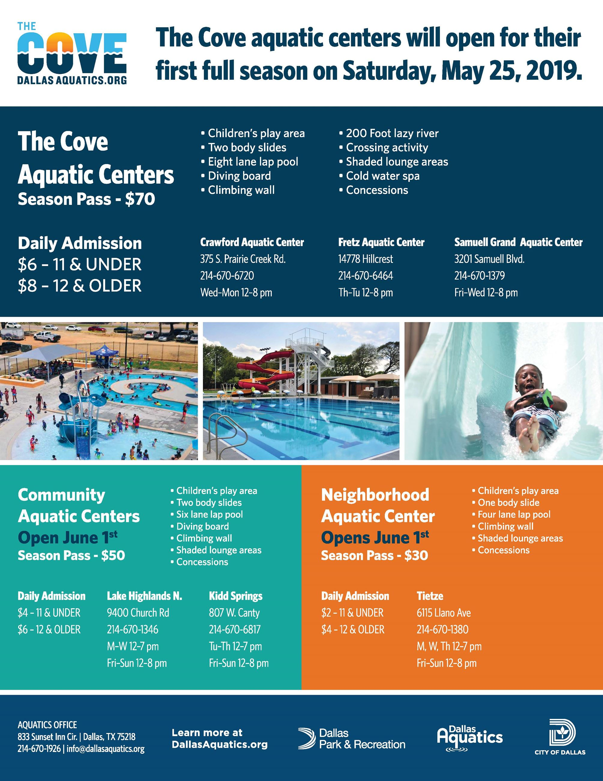 Aquatic Center Flyer